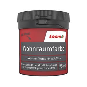 toom Wohnraumfarbe 'Feuerrot' 75 ml Tester matt