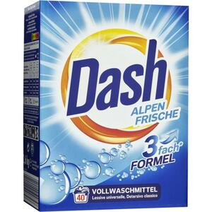 Dash Vollwaschmittel Alpen Frische Pulver 2,6 kg 40 WL 0.14 EUR/1 WL