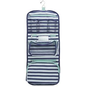 IDEENWELT Kulturtaschen-Rolle blau gestreift