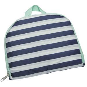 IDEENWELT faltbarer Rucksack blau/weiß