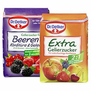 Dr. Oetker Gelierzucker Extra 2:1 oder Gelierzucker für Konfitüren jede 500-g-Packung