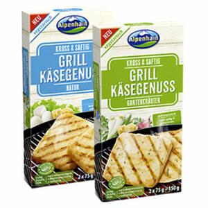 Alpenhain Grill Käsegenuss 43 % Fett i. Tr., versch. Sorten, jede 2 x 75 g = 150-g-Packung