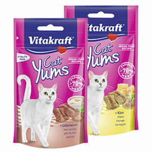 Cat Yums Katzen-Snacks versch. Sorten, jede 40-g-Packung