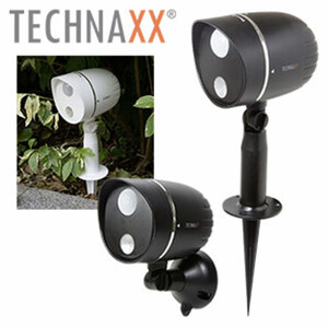 LED-Außenlampe mit Bewegungsmelder bis zu 8 m Leuchtweite, Sensorbereich bis zu 7 m, staub- und wassergeschützt (IP65), schwarz oder weiß, je