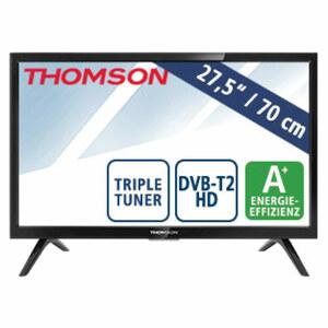 "27,5""-LED-HD-TV 28HD3206 • Auflösung 1.366 x 768 Pixel • 2 USB-Anschlüsse, HDMI-/CI+-Anschluss • Stand-by: 0,27 Watt, Betrieb: 23 Watt • Maße: H 38,5 x B 64,3 x T 8,1 cm • Energie-Effi"