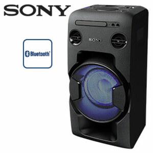 Bluetooth®-Lautsprecher MHC-V11 • 470 Watt RMS • CD-Player, UKW-Radio • Mega-Bass-Funktion • USB-Aufnahme-/NFC-Funktion • 2 Mikrofon-Anschlüsse für Karaoke-Partys • USB-Anschluss, Audi