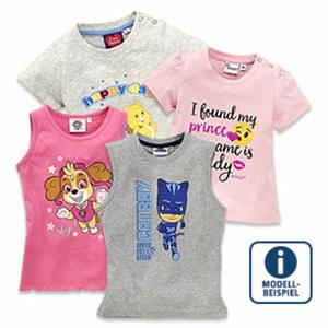Baby-Lizenz-T-Shirt Größe: 68 - 86 oder Kinder-Lizenz-Top Größe: 92 - 164, je