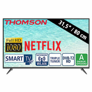 """31,5""""-FullHD-LED-TV 32FD5506 • HbbTV • 2 HDMI-Anschlüsse, USB-/CI+-Anschluss • Stand-by: 0,29 Watt, Betrieb: 33 Watt • Maße: H 43,5 x B 73,5 x T 8 cm • Energie-Effizienz A (Spektrum A++ b"""