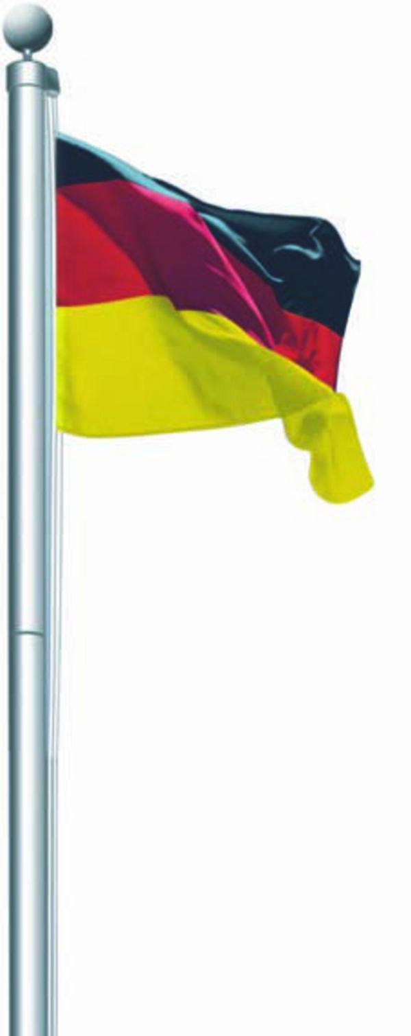Aluminium  Fahnenmast  inkl.  Deutschland-Fahne