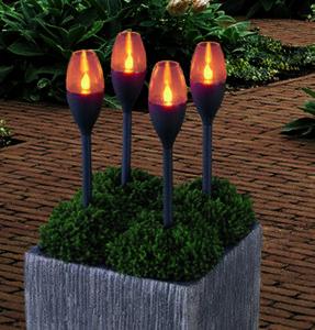 LED-Solarfackel 4er Set