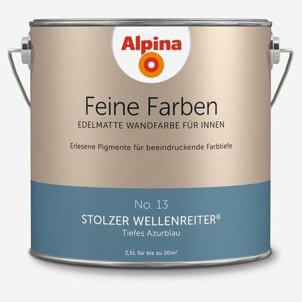 Azurblau Wandfarbe: Alpina Wandfarbe 'Feine Farben' No. 13 'Stolzer
