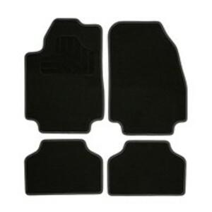 Norauto Universal Autoteppich Colour im 4-teiligen Komplettset, Auto Textil Fußmatten, schwarz/grau