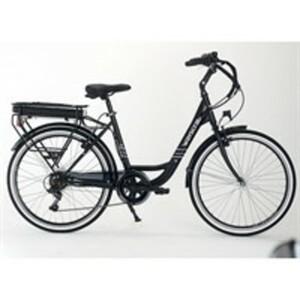 E-Bike Everyway E100, 26 Zoll Pedelec, elektrisch unterstütztes Fahrrad in Schwarz