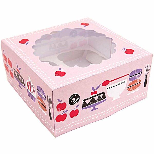 Made by me Cupcake Box 16x16x7,5cm 2 Stück
