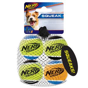NERF Dog Tennisbälle 4er m. Quietscher Gr. XS