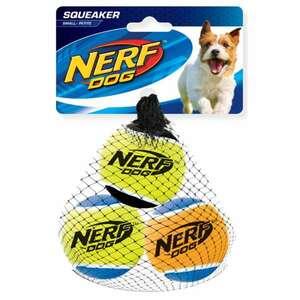 NERF Dog Tennisbälle 3er m. Quietscher Gr. S