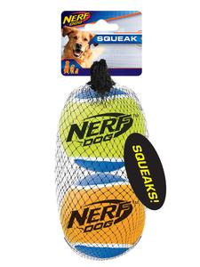 NERF Dog Tennisbälle 2er m. Quietscher Gr. L