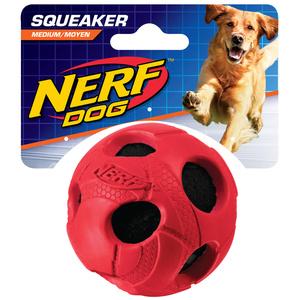 NERF Dog Tennisball gummiummantelt Gr. M blau/rot