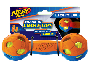 NERF Dog LED Hantel M orange/blau
