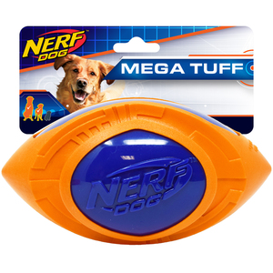 NERF Dog Football Megatonne 18cm blau/orange