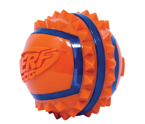 NERF Dog TPR Spike Ball 9cm blau/orange