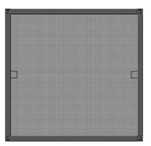 Schellenberg Insektenschutz-Fenster BASIC in Anthrazit – 100 x 120 cm