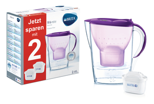 BRITA Wasserfilter Marella Starterpack inkl. 2 MAXTRA+, purple (violett)