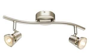 Globo Lighting - LED-Deckenleuchte 57351-2LED in nickel matt, 2-flammig