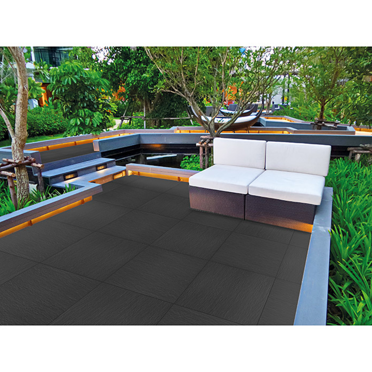 Bild 3 von Terrassenfliese Slate Black