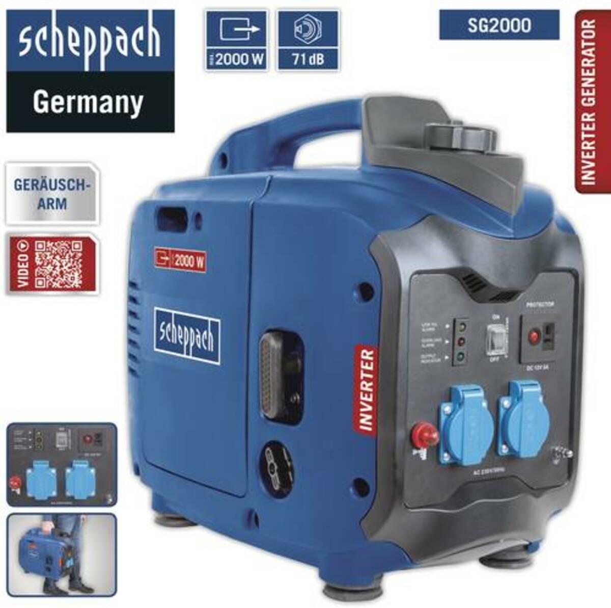Bild 2 von Scheppach SG2000 Inverter Stromerzeuger 2000 W blau