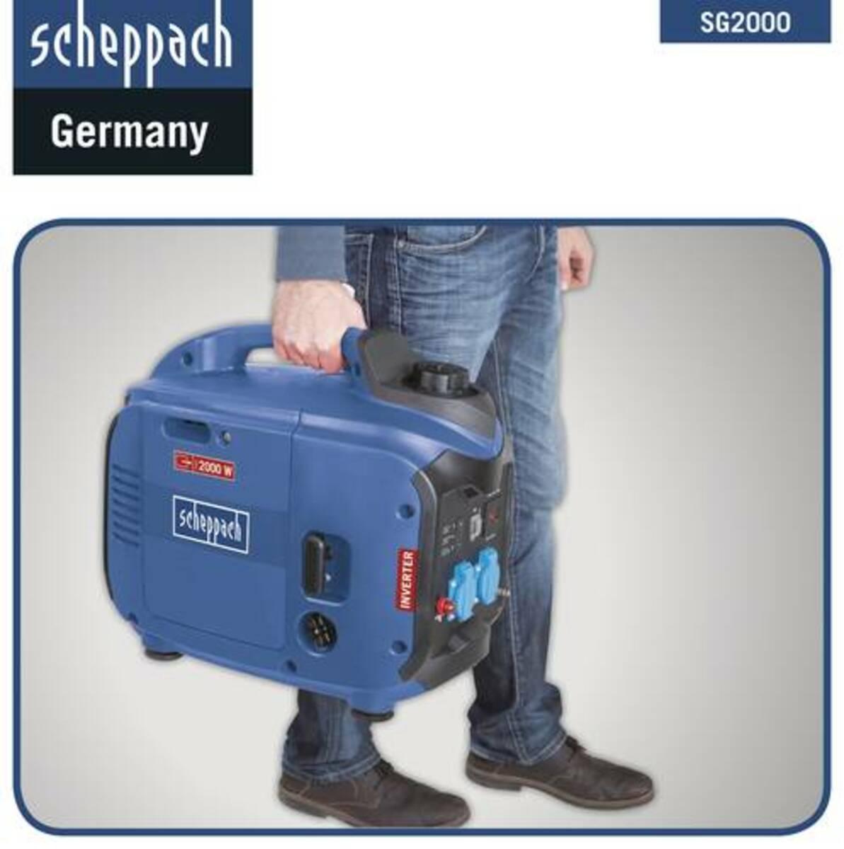 Bild 4 von Scheppach SG2000 Inverter Stromerzeuger 2000 W blau