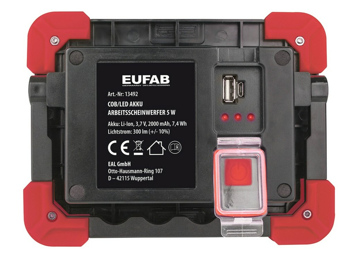Bild 5 von Eufab LED Akku Arbeitsstrahler 5W