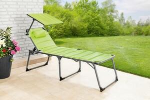 Solax-Sunshine XXL Alu-Komfort-Sonnenliege gepolstert/apfelgrün