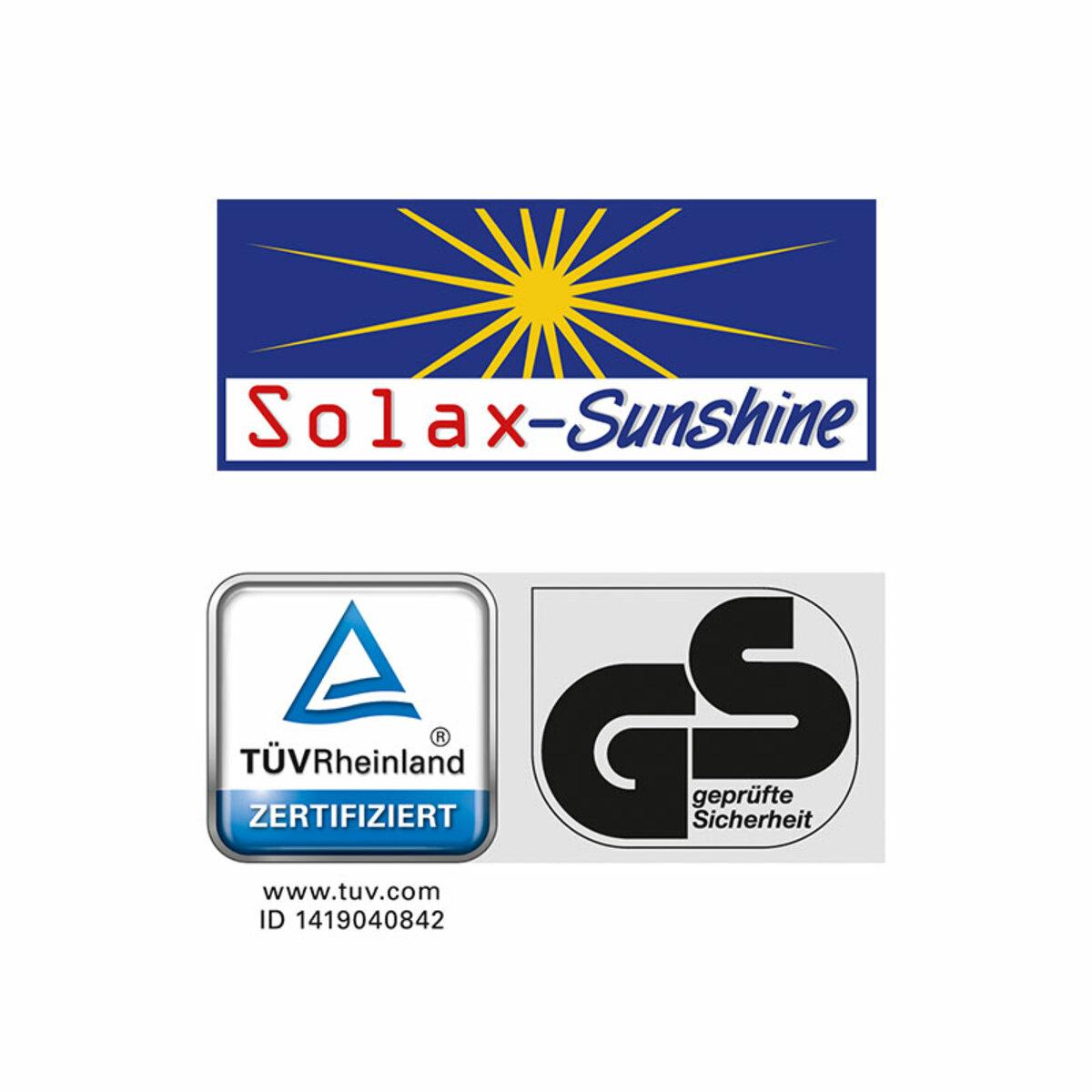 Bild 2 von Solax-Sunshine XXL Alu-Komfort-Sonnenliege gepolstert/grau