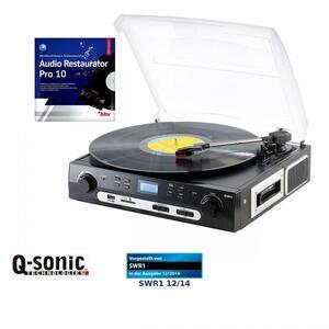 Q-Sonic UPL-855.MP3 Plattenspieler und Digitalisierer