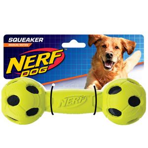 NERF Dog Hantel gummiummantelt Gr. M blau/grün