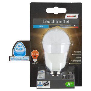 toomEigenmarken -              toom LED-Leuchtmittel E14 470 lm 6 W warmweiß