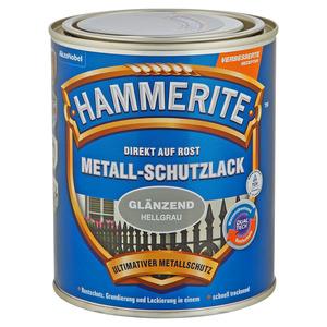 Hammerite -              Hammerite Metallschutzlack 'Direkt auf Rost' hellgrau glänzend 750 ml