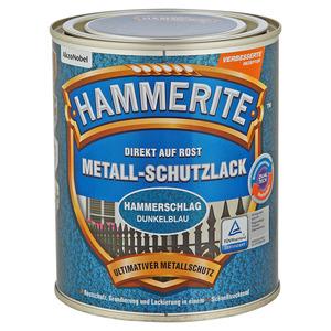 Hammerite Metallschutzlack 'Direkt auf Rost' dunkelblau Hammerschlag-Effekt 750 ml