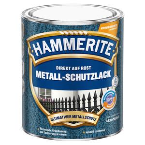 Hammerite Metallschutzlack 'Direkt auf Rost' silbergrau Hammerschlag-Effekt 750 ml