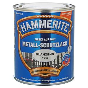 Hammerite Metallschutzlack 'Direkt auf Rost' weiß glänzend 750 ml