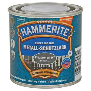 Hammerite Metallschutzlack 'Direkt auf Rost' Struktureffekt schwarz 250 ml