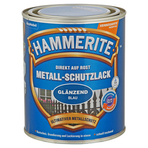Hammerite Metallschutzlack 'Direkt auf Rost' blau glänzend 750 ml