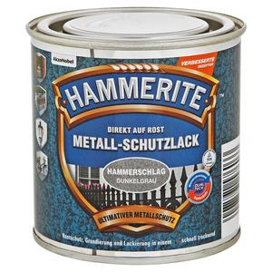 Hammerite Metallschutzlack 'Direkt auf Rost' dunkelgrau Hammerschlag-Effekt 250 ml