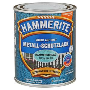Hammerite Metallschutzlack 'Direkt auf Rost' metallblau Hammerschlag-Effekt 750 ml