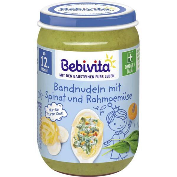 Bebivita Bandnudeln mit Spinat und Rahmgemüse 0.38 EUR/100 g (6 x 250.00g)