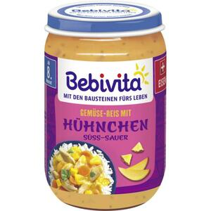 Bebivita Gemüse-Reis mit Hühnchen süss-sauer 0.45 EUR/100 g (6 x 220.00g)