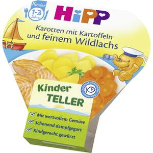 HiPP Karotten mit Kartoffeln und feinem Wildlachs 0.62 EUR/100 g (6 x 250.00g)