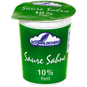 Schwälbchen Saure Sahne 10% 200g