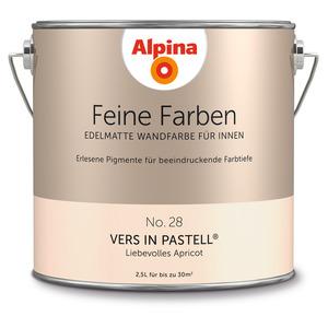 Alpina Wandfarbe 'Feine Farben' No. 28 'Vers in Pastell', apricot, 2,5 l